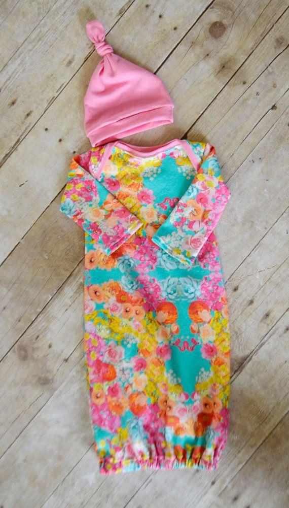 newborn gown newborn sleep sack baby gown by LittleBeansBabyShop ...