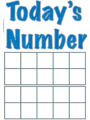 TodayS Number Poster  Ten Frames  Fuel The Brain Printables