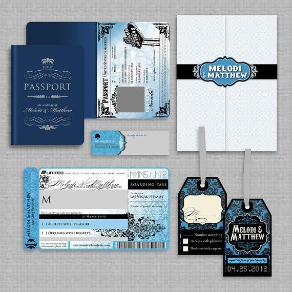 Melodi Passport Style Wedding Invitation by AprilTwentyFive – Passport Style Wedding Invitation