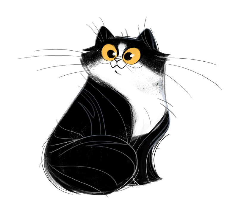 Daily Cat Drawings 434 Black And White Cat Cat Sketch Cats Illustration Cat Art