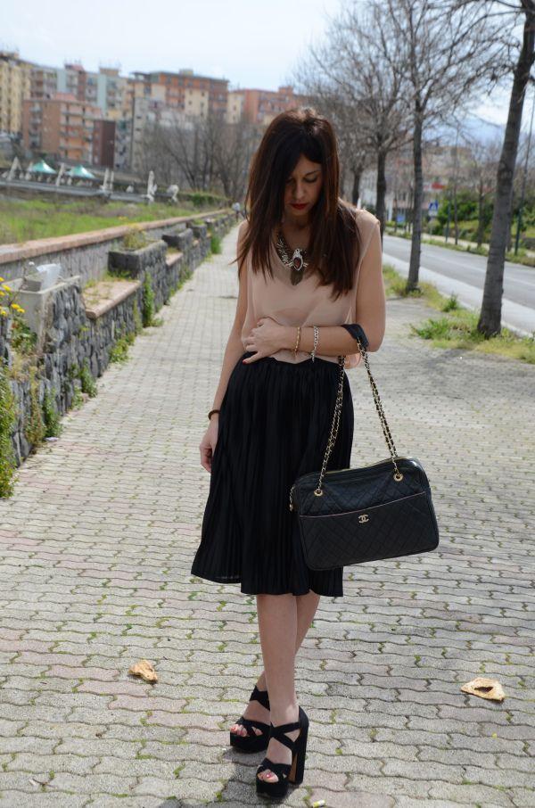 Total look America Apparel  Bag Chanel