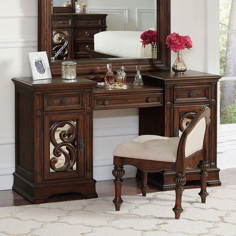 Ilana Vanity Desk (Antique Java) Coaster furniture