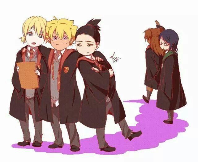 Canon Babies And Harry Potter Crossover Uzumaki Boruto Naruto Shippuden Anime Naruto Sasuke Sakura