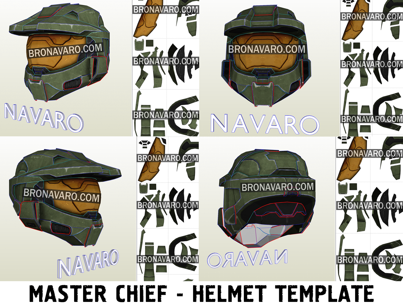Master Chief Helmet Foam Template Halo 3 Cosplay Helmet Master Chief Helmet Pattern Halo 3 Helmet Pepakura Master Chief Cosplay Halo Cosplay Helmet