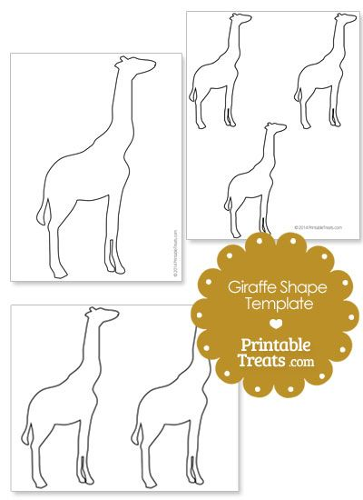 printable giraffe shape template from printabletreatscom