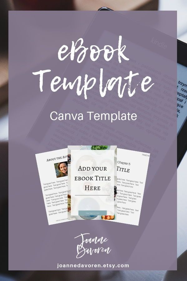 Ebook Template Customizable Canva Template Ebook Cover