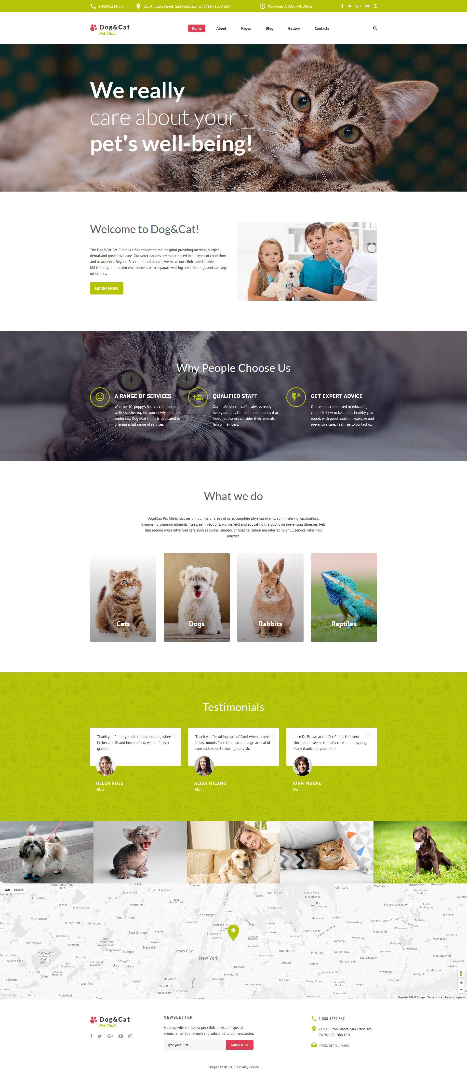 Dog Cat Pet Clinic Responsive Joomla Template 62318 Joomla Templates Joomla Themes Pet Clinic