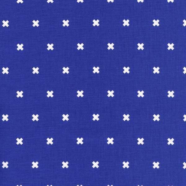 XOXO in Rashida Cobalt   Basics   Cotton+Steel   100% Cotton Fabric   UK   The Fabric Fox