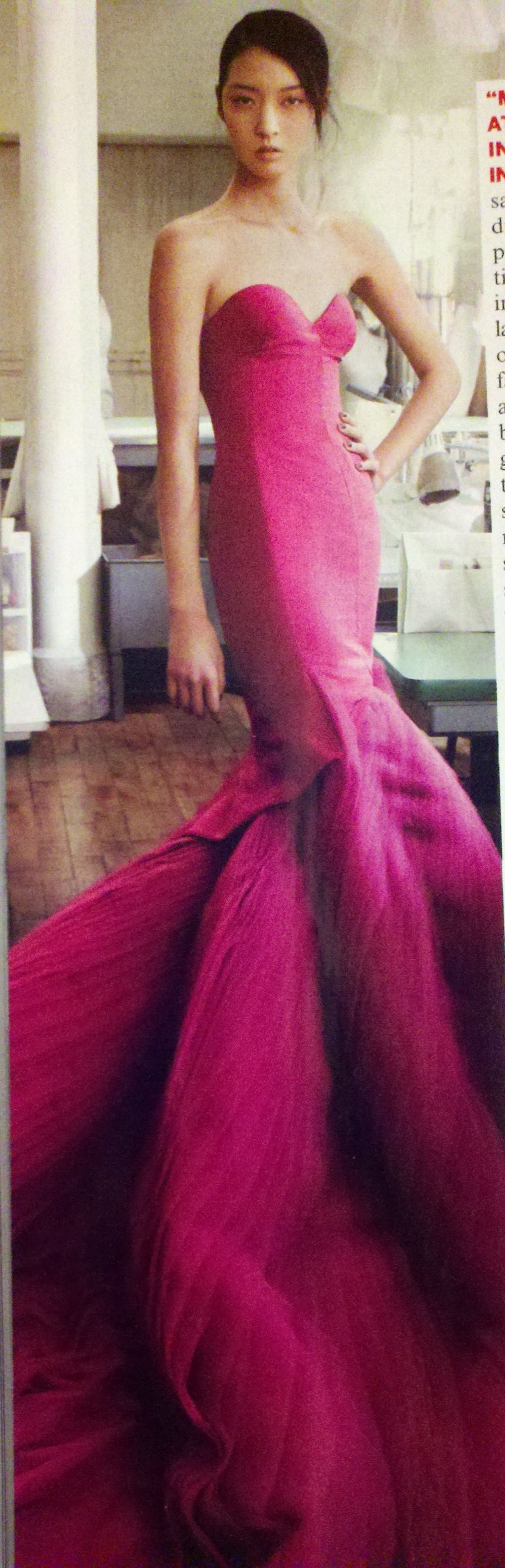 Zac Posen | Bright Pink Fashion | Pinterest | Vestiditos, Alta ...