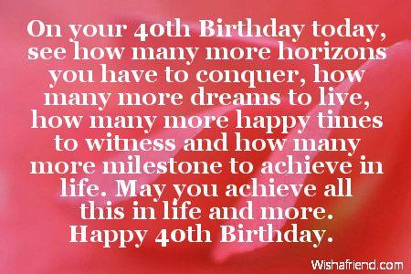 40th birthday wishes quotes pinterest 40 birthday birthdays 40th birthday wishes bookmarktalkfo Image collections