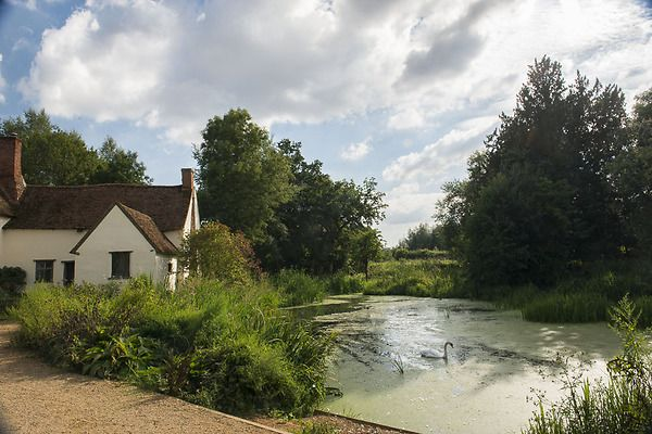 Flatford Mill, Suffolk where John Constable was born and painted many of his most famous paintings. The scene is still easily recognised from The Haywain  painting.