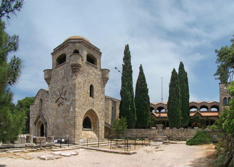 Monastère - Rhodes, Grèce