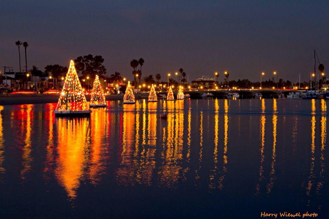 Naples Canal Holiday Boat Parade. Naples, California