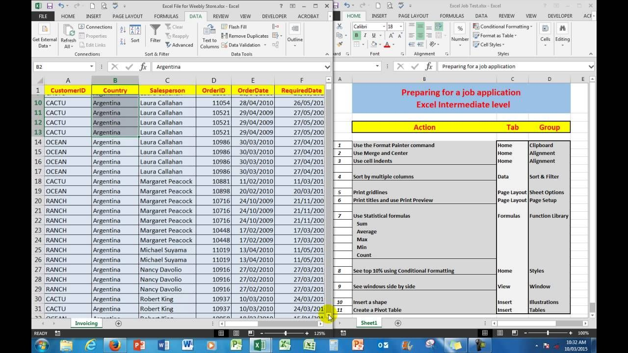 How To Prepare Excel Assessment Test Intermediate LevelFor A Job