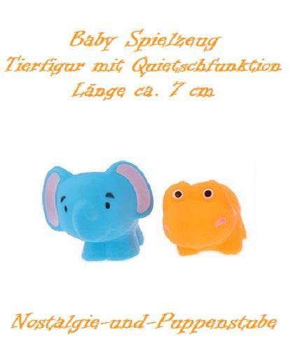 Baby Gummi Tier Spielzeug Quietschefunktion 2er Set... nur