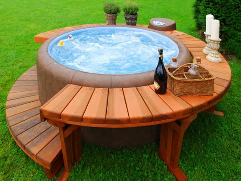 Concrete Pad For Hot Tub | So, Installing Barrel Hot Tub In Your Home Will