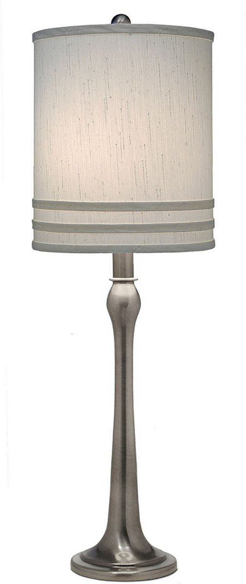 3 Way Table Lamp Antique Nickel Contemporary Style Lighting