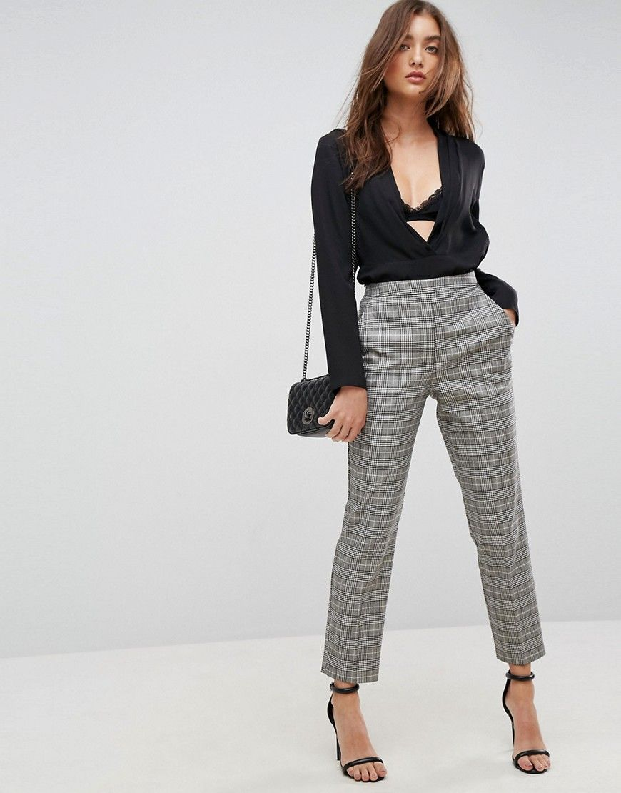ASOS Tailored Slim Houndstooth Check PANTS - Multi  2cd4bc0a9
