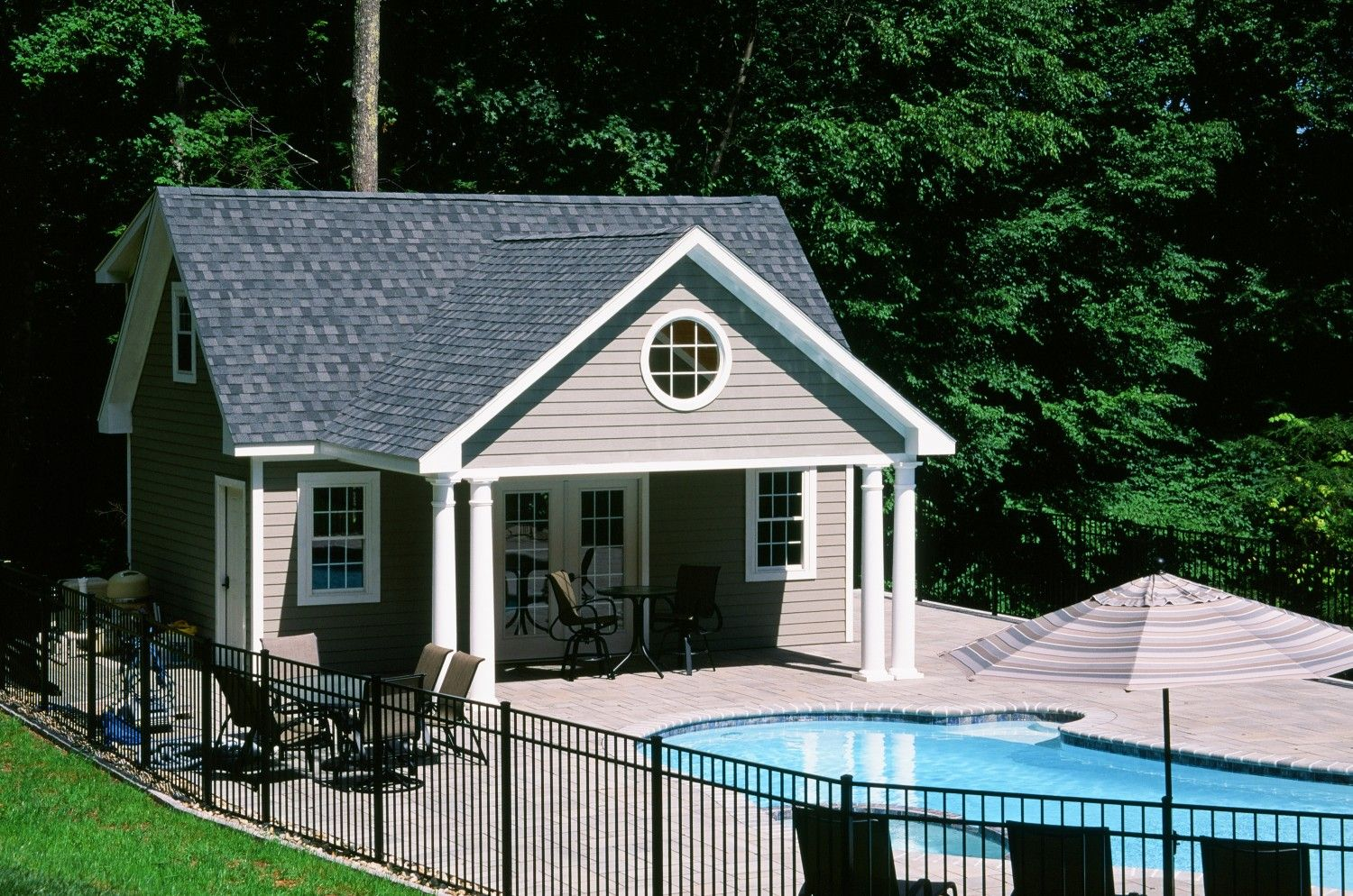 Styles Grand Victorian Cape Dutch Garage Post Beam Custom The Barn Yard Great Country Garages Pool House Pool Shed Pool House Shed