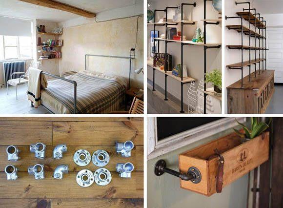 rohr-regal-diy Do it yourself Pinterest Pipes, Industrial - küche selber bauen anleitung
