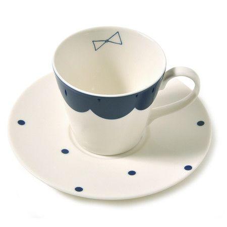 kraso : ネイルサロン アトリエリムさんがリデザイン 昼下がりのロイヤルミルクティー おしゃべりなリボンのカップ&ソーサー | Sumally
