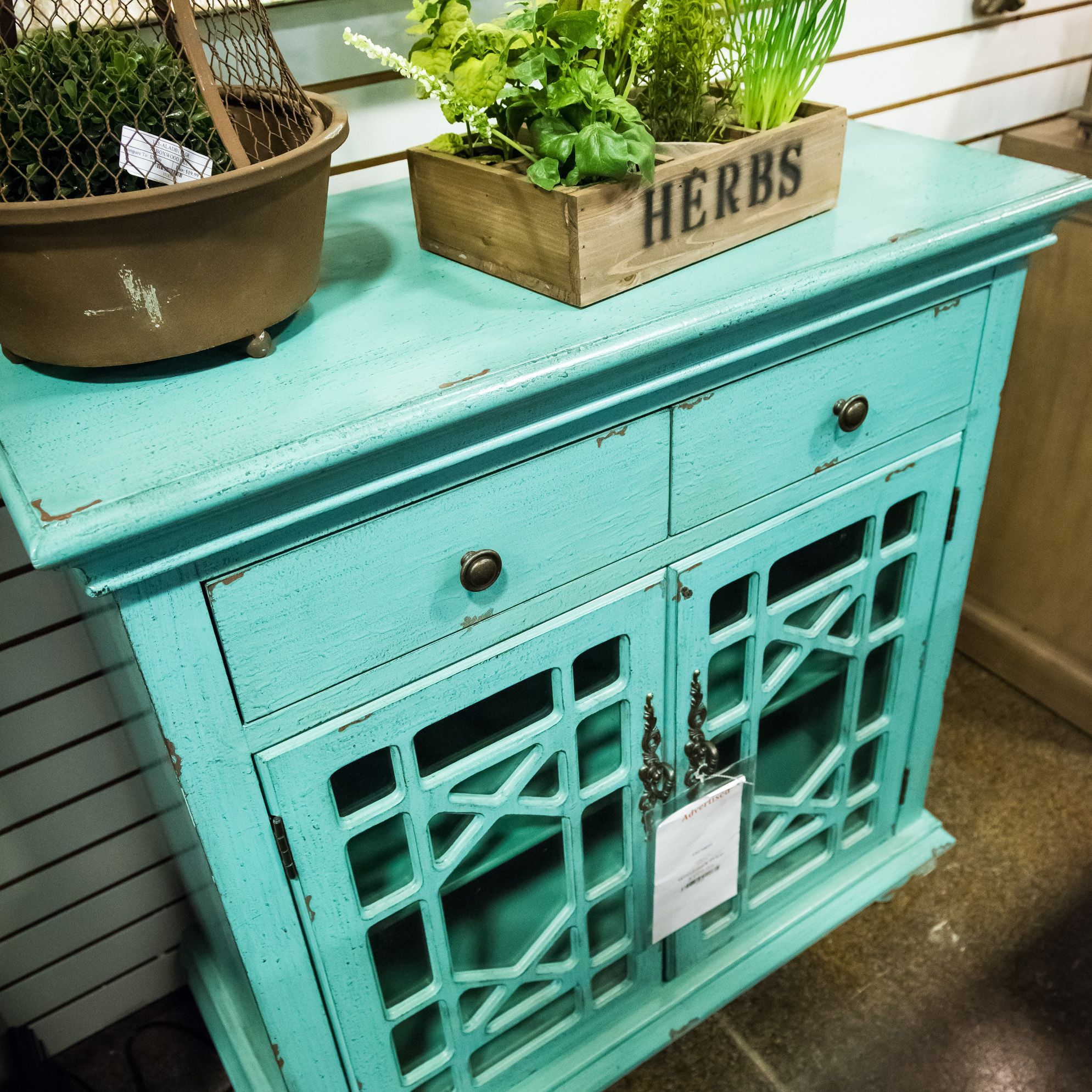 Kick Start Your Coastal Look With This Breezy Aqua Chest