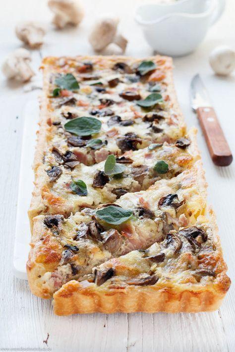 Photo of Quiche mit Schinken, Champignons und Mozzarella – emmikochteinfach