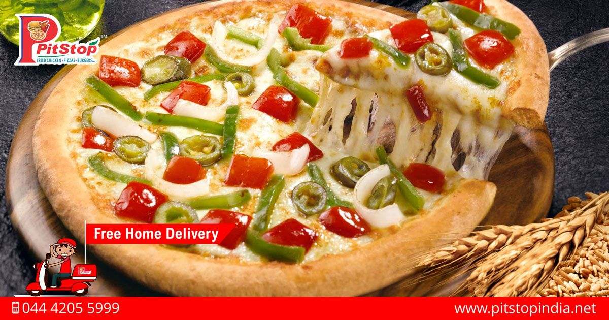 order tasty and spicy veg pizza online from http www pitstopindia net or call 044 4205 5999 for free home delivery pizza wallpaper veg pizza cheese pizza order tasty and spicy veg pizza online