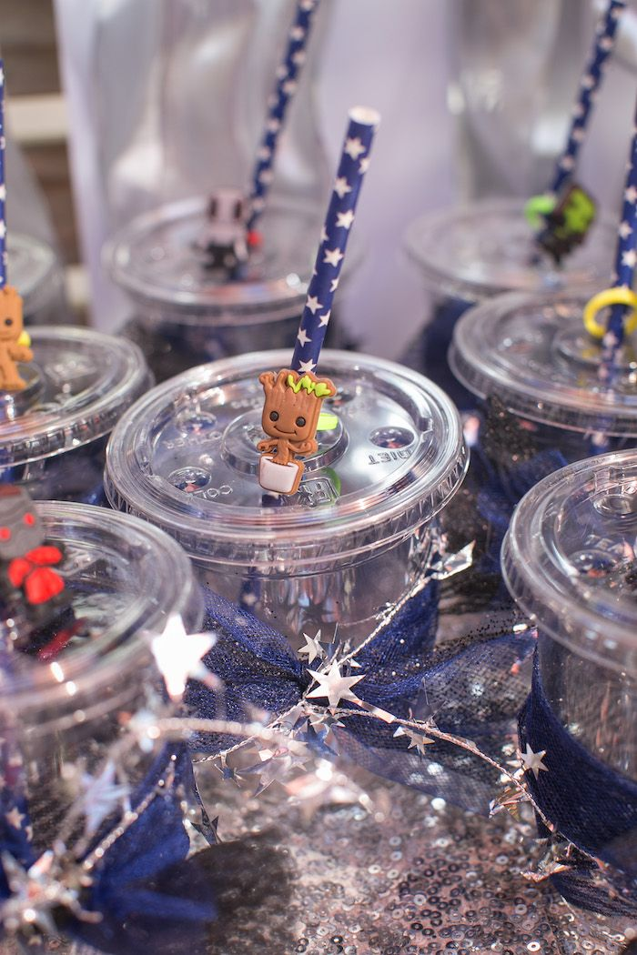 Guardian Straw Toppers From A Guardians Of The Galaxy Birthday Party On Karas Ideas
