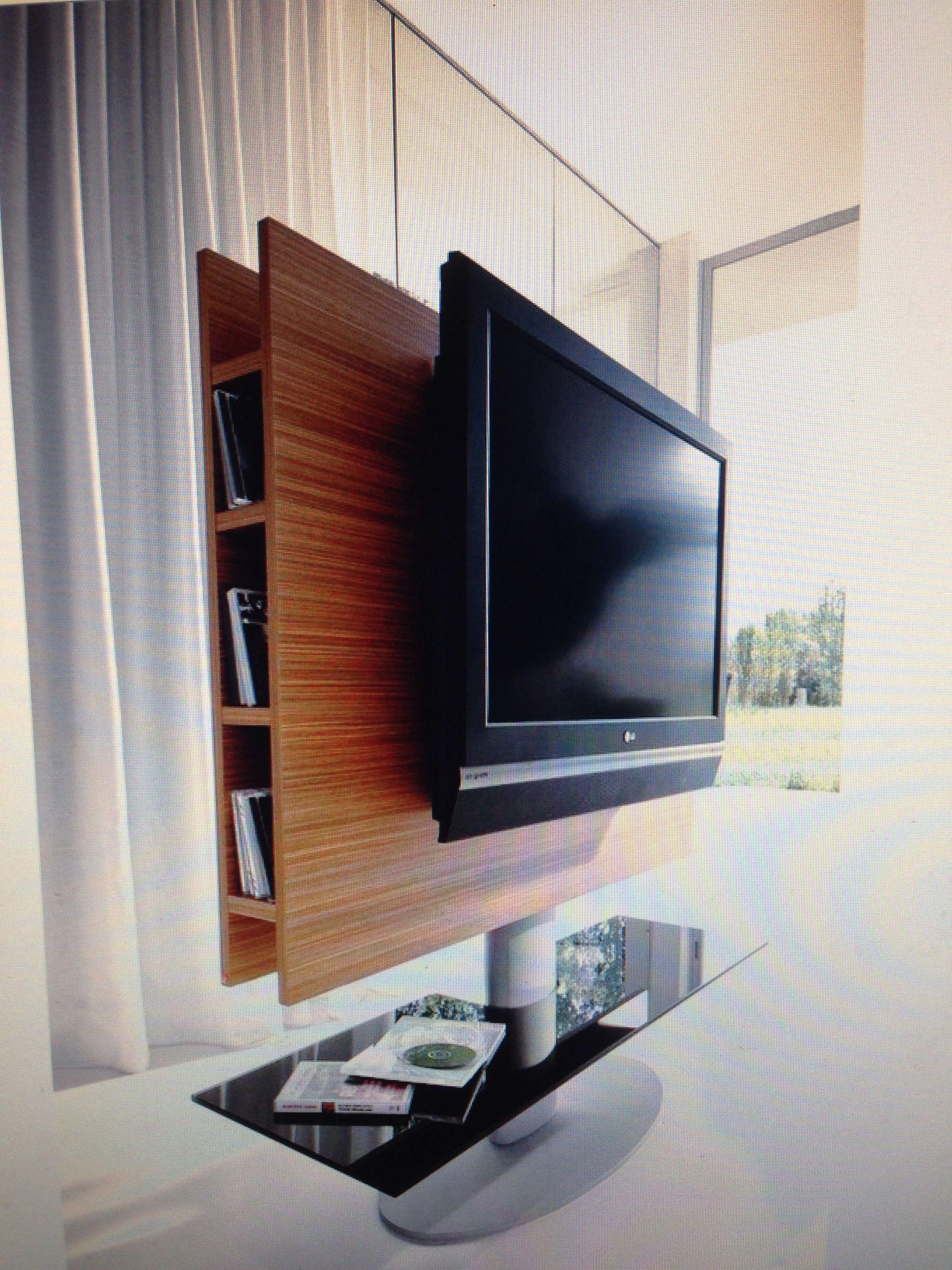 Rotating Tv Stand Narrow Living Room Pinterest Tv