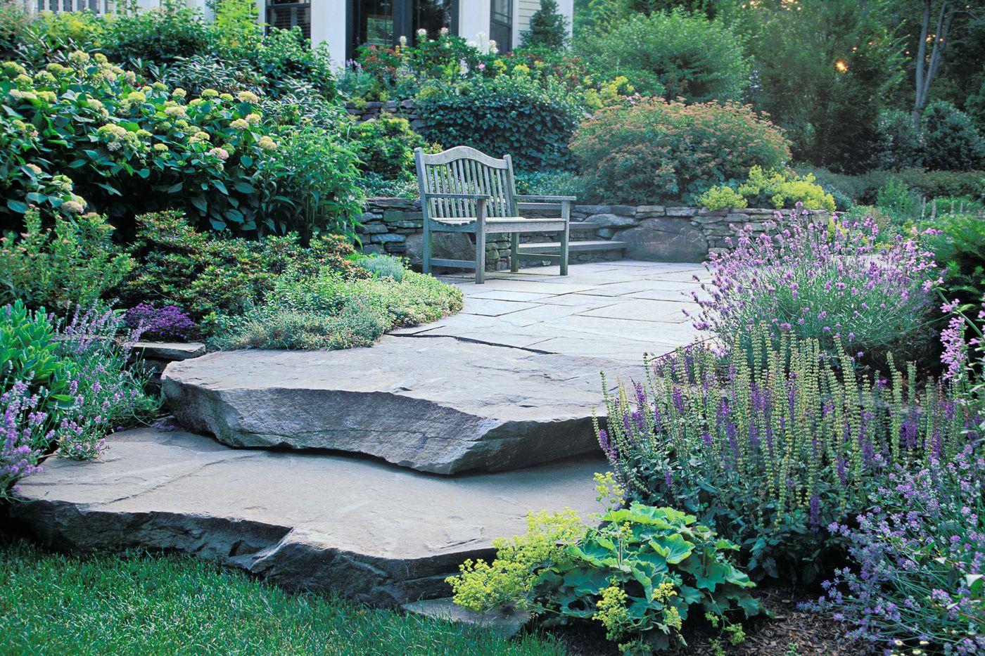Natural stone steps cording landscape design stone pinterest gardens natural stone steps workwithnaturefo