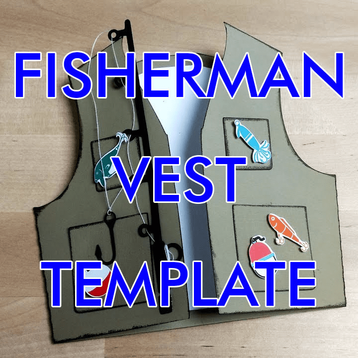 Download Fishing Vest Card Template Fishing Birthday Cards Fishing Cards Fishing Birthday