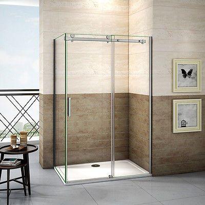 Details zu 110x90 cm Duschabtrennung Duschkabine 8mm Nanoglas - schiebetüren für badezimmer