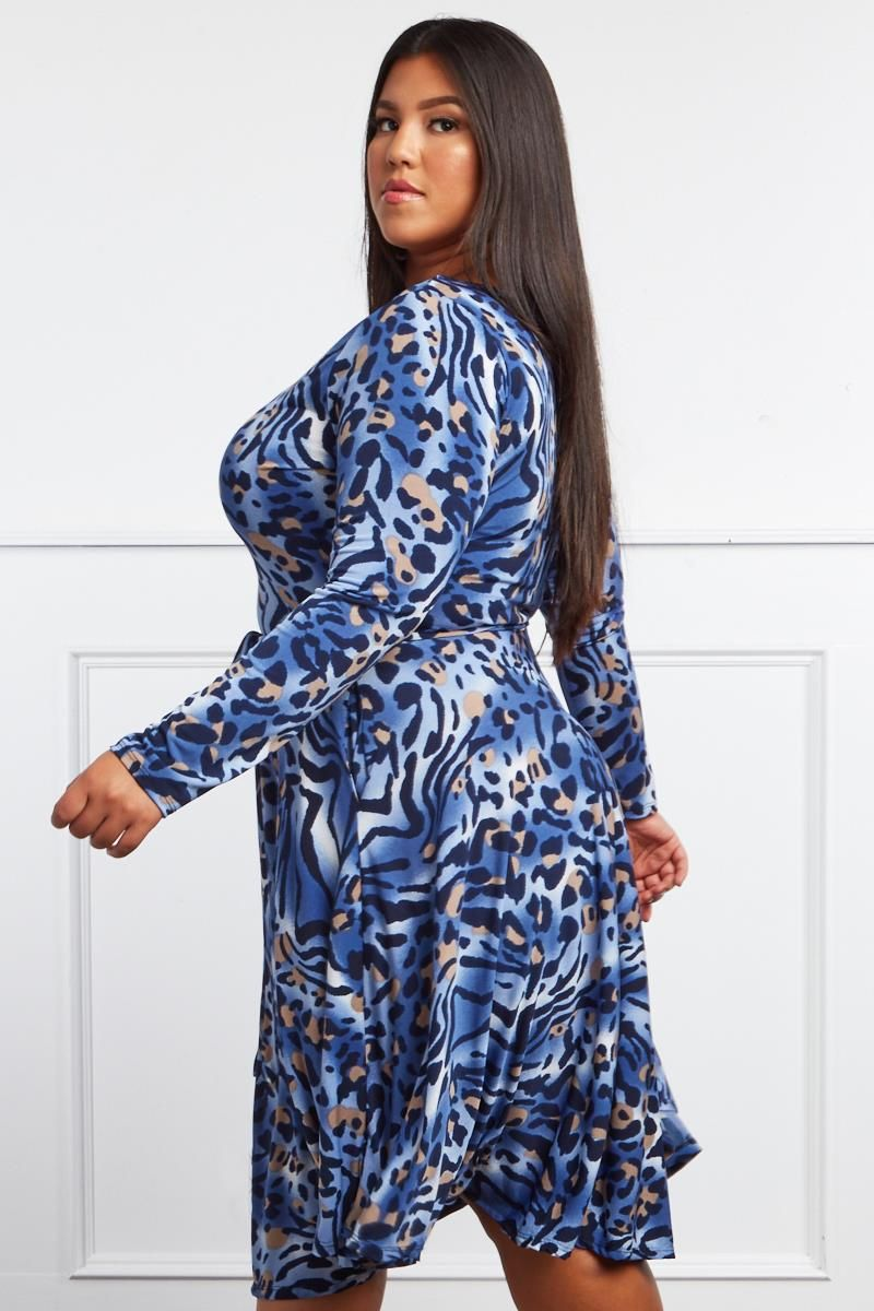 29ebfc062e0 Wild Side Plus Size Cheetah Dress | sxedia gia foremata | Trendy ...