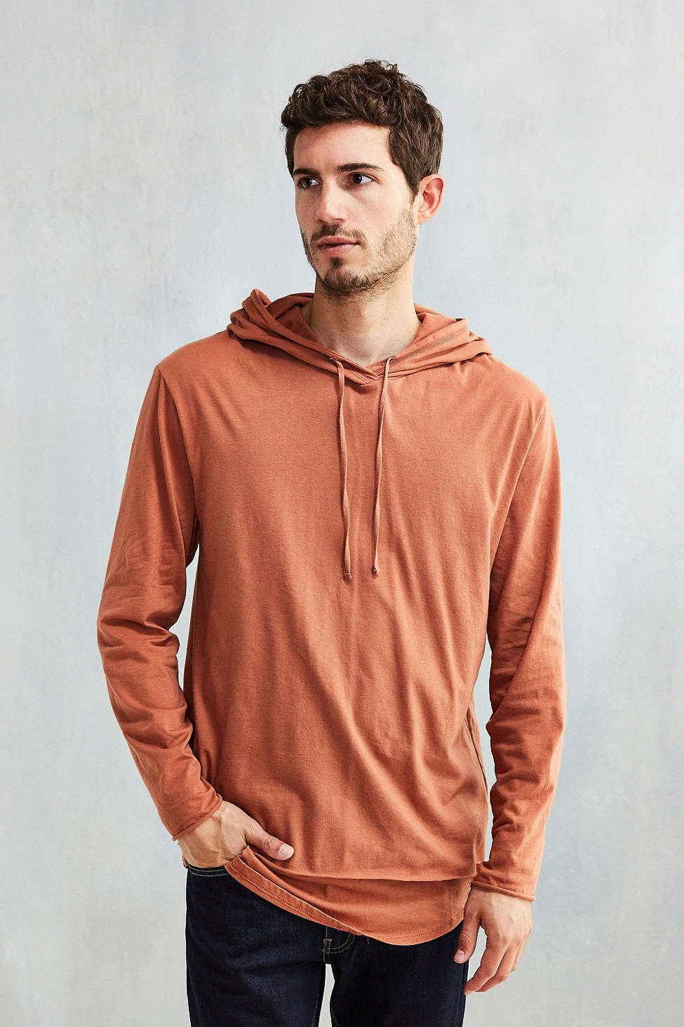 Feathers Double Layer Long-Sleeve Hooded Tee | SPR BRK 2017 GUYS ...