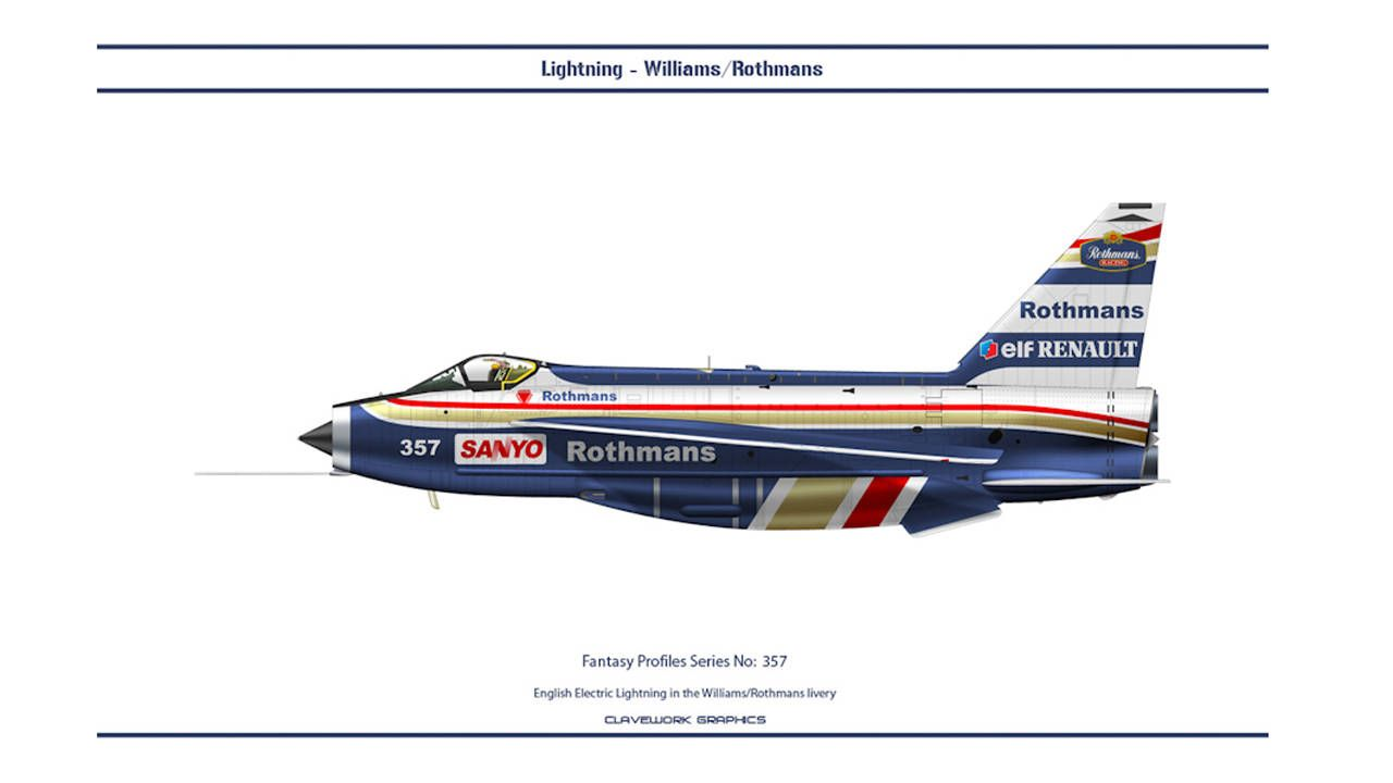 English Electric Lightning in the Williams/Rothmans livery   - RoadandTrack.com