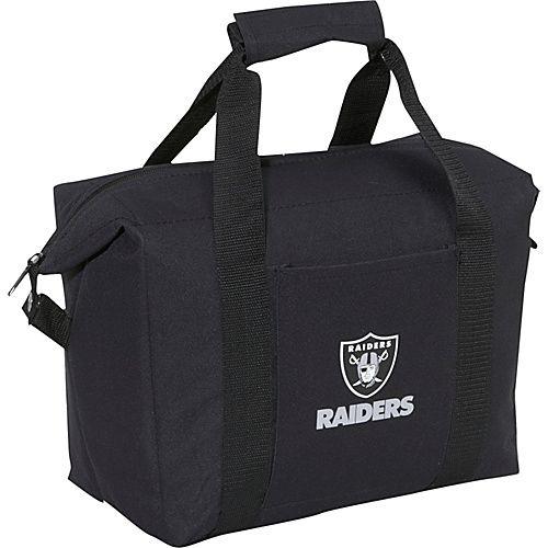 #Kolder, #TravelAccessories, #TravelCoolers - Kolder Oakland Raiders Soft Side Cooler Bag - Black