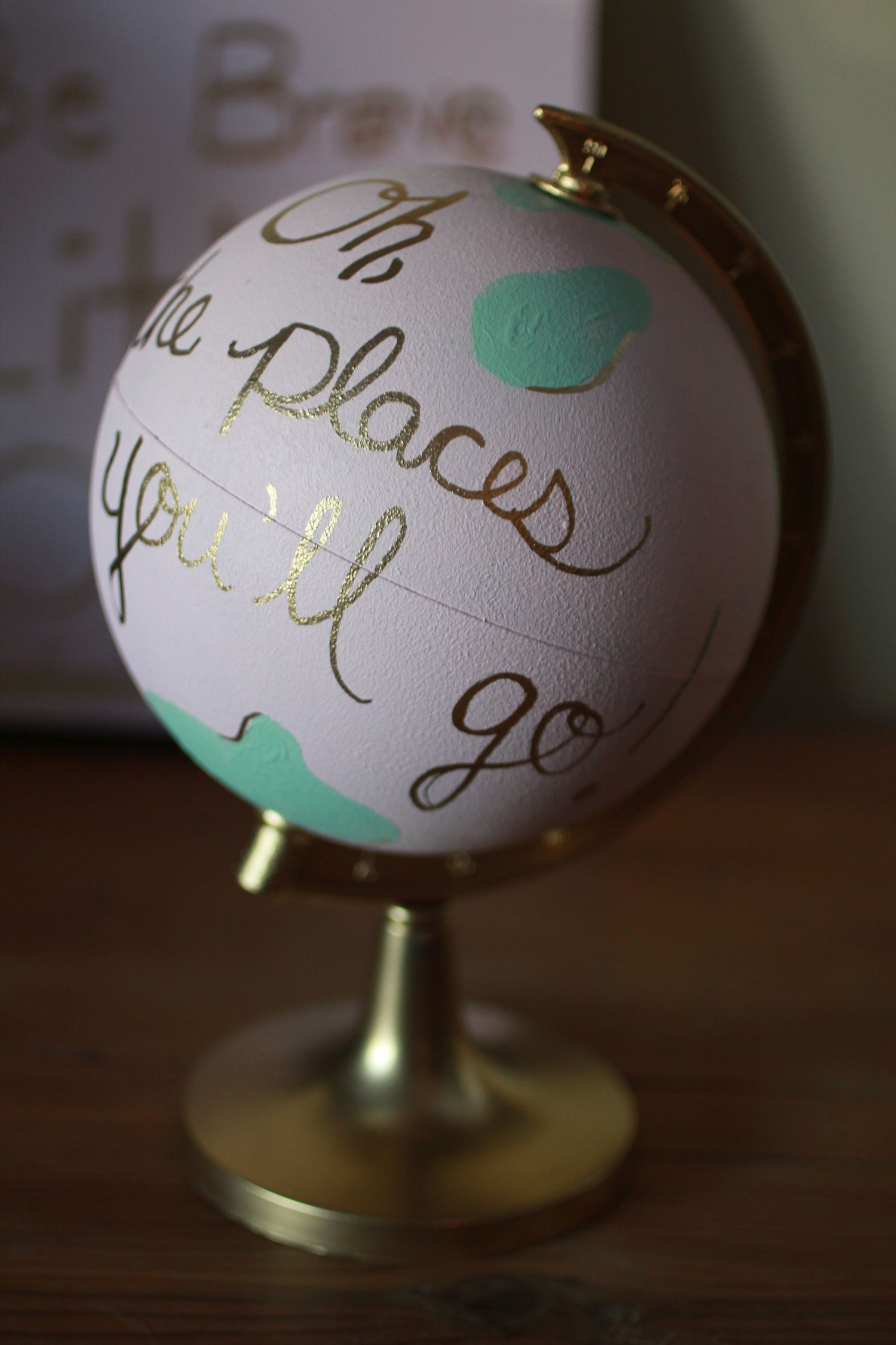 Handpainted globe on Blog — Killins Photography Hand