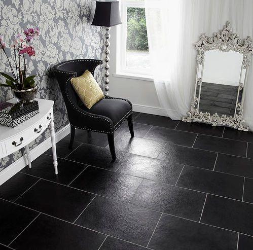 Black limestone floor tiles ideas for bedroom Flooring Ideas