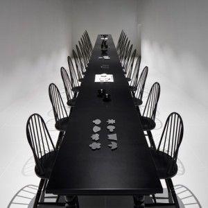 Nendo creates dining room optical illusion  at Japan's Expo pavilion