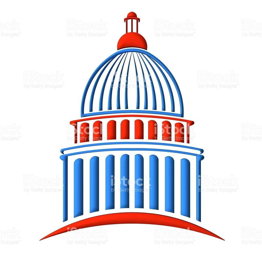 capitol building in red white and blue royalty free stock photo rh pinterest com capitol building washington dc clipart capital building clip art on inauguration day