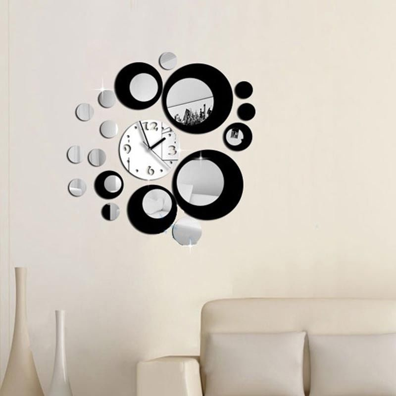 Modern Diy Large Wall Clock 3d Mirror Surface Sticker Home Decor Art Design New T A Mirroring And Paraphrasing