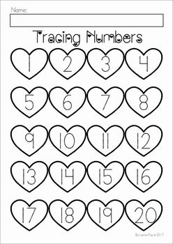 Valentine's Day Preschool No Prep Worksheets and