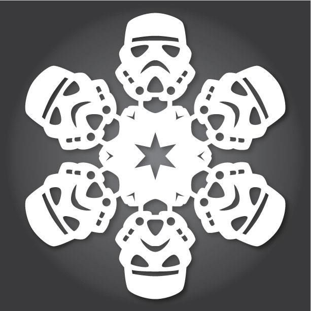 How To: 60+ Free Paper Snowflake Templates—Star Wars Style! | Paper ...