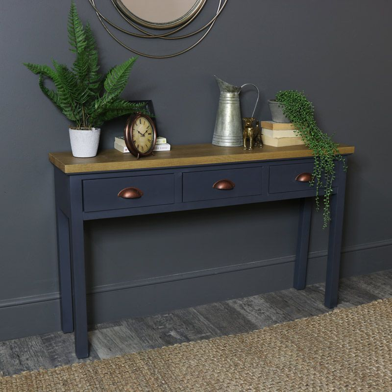 Fabulous Dark Grey 3 Drawer Console Table Grayson Range In 2019 Onthecornerstone Fun Painted Chair Ideas Images Onthecornerstoneorg