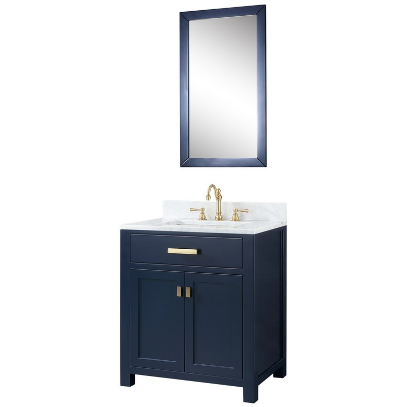 Water Creation Vmi030cwmb00 Madison 30 Inch Single Sink Carrara