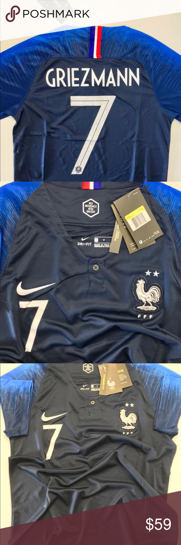 e372618c4ea GRIEZMANN FRANCE WORLD CUP SOCCER JERSEY 2 STARS *✅BRAND NEW WITH TAGS✅ *
