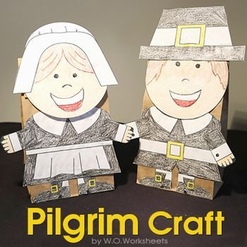 pilgrim craft is a fun art project for thanksgiving create a boy or girl pilgrim from the template each pilgrim will look unique after the students draw