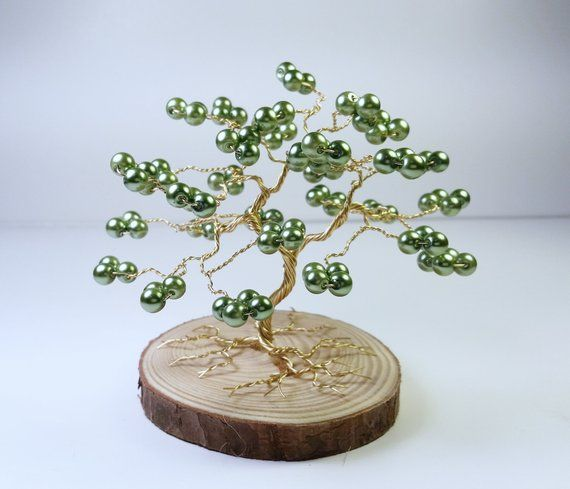 Small Tree Of Life: This Small Tree Of Life Is Made With Strands Of Gold