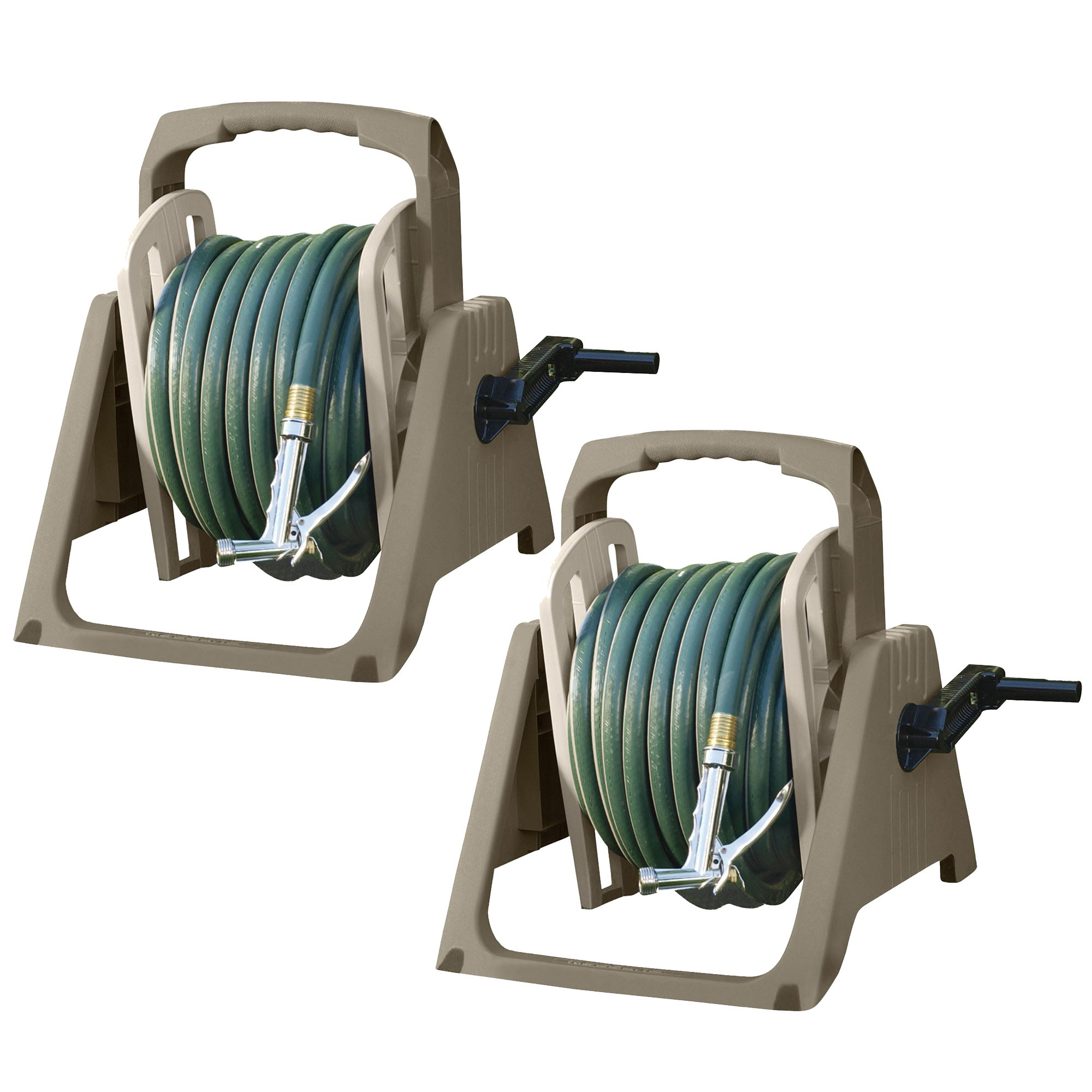 Suncast 100 Foot Tote Or Wall Mount Garden Hose Reel Taupe